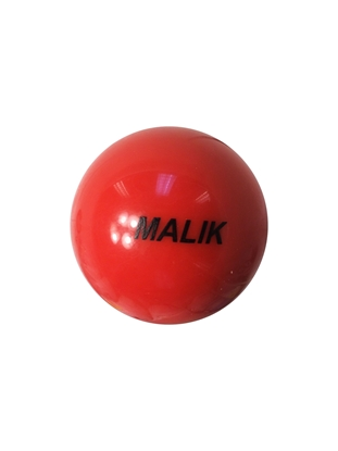 Malik Field Hockey Smooth Bright Orange Ball Front