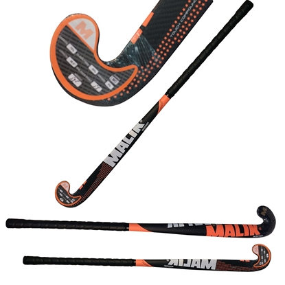 Picture of Field Hockey Stick  Carbon Tech NARANJA Outdoor Multi Curve - 75% Carbon - 5% Aramid - 20% Fiber Glass - Malik